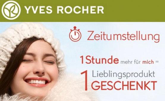 Euer 1. Produkt im Warenkorb heute gratis bei Yves Rocher bekommen