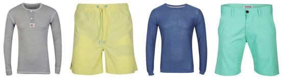 Günstige Shorts und Pullover von Jack and Jones