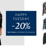 Happy Tuesday bei C&A – nur heute 20% Rabatt auf Strickwaren für Frauen
