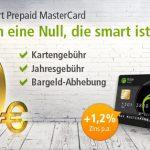Kostenlose Mastercard Prepaid Kreditkarte bei der Fidor Bank