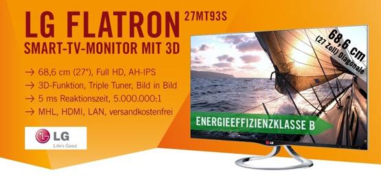 LG Flatron 27MT93S SMART TV Monitor mit 3D und MHL