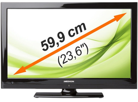 Medion Life MD 20255 - 23,6 Zoll Full HD LED-Backlight-Fernseher (B-Ware)