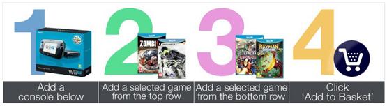 Nintendo Wii U Premium Pack + 2 Spiele
