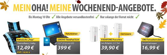 OHA Deals zum Wochenende – Lenovo Thinkpad, CM3 Fernsehsimulator, Bettwäsche und mehr