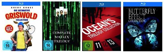 Reduzierte Film-Collections auf DVD und Blu-ray bei Amazon