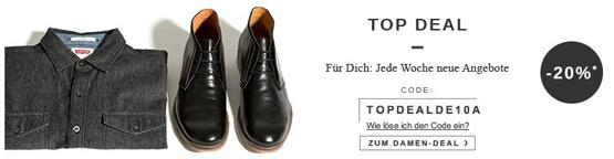 20 Prozent Rabatt auf ausgewählte Schuhe bei Zalando dank Gutschein