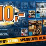 3 Blu-rays für 10€ bei Saturn dank Gutschein