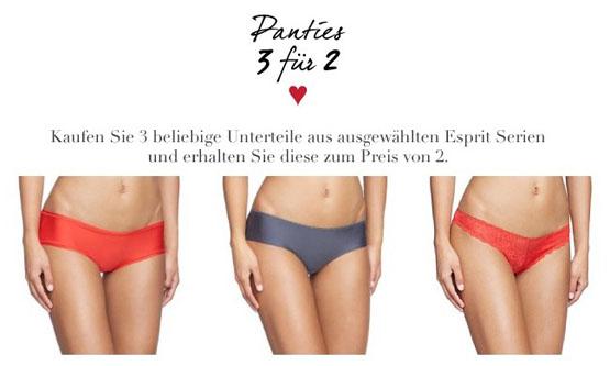 3 Esprit Panties zum Preis von 2