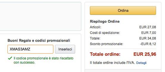 Bestellvorgang Amazon Italien