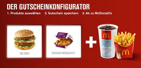 Gutscheinkonfigurator von McDonalds