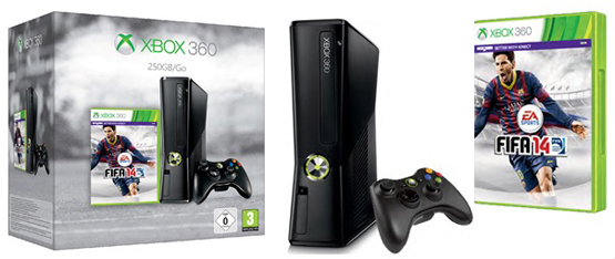Microsoft Xbox 360 250GB + Fifa 14