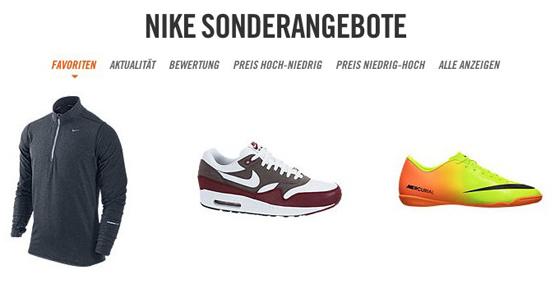 Nike Sale mit Rabatten bis zu 50 Prozent