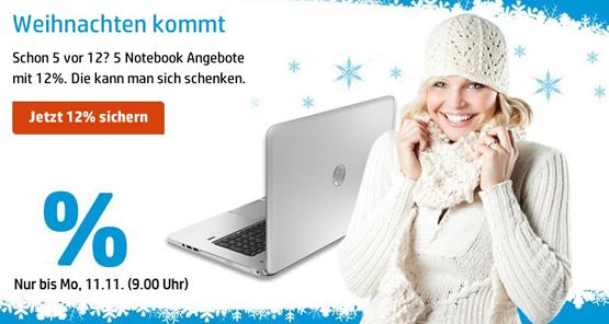 Notebook Angebote bei HP