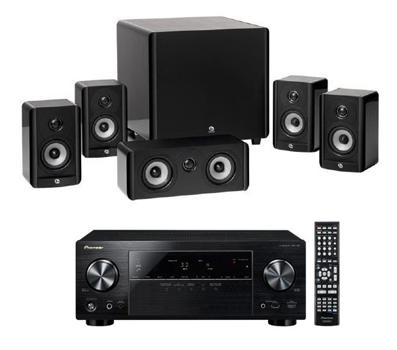 Pioneer VSX-528-K AV-Receiver + Boston A2310HTS 5.1 Lautsprecher-Set