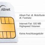 Vodafone Allnet Flatrate mit 500MB Datenvolumen für 9,99€ monatlich