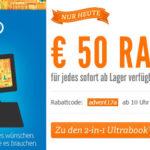 50€ Rabatt auf jedes lagernde 2-in-1 Ultrabook bei Notebooksbilliger