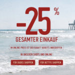 Hollister Sale: satte 25% Rabatt auf Alles