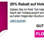 20% auf Hotelbuchungen oder 60€ Rabatt auf Hotel- und Flugbuchungen bei ebookers.de