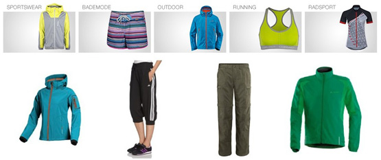 Sportkleidung bei Amazon