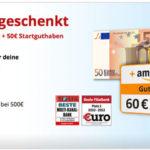 HypoVereinsbank: Girokonto mit 50€ Startguthaben + 60€ Amazon-Gutschein