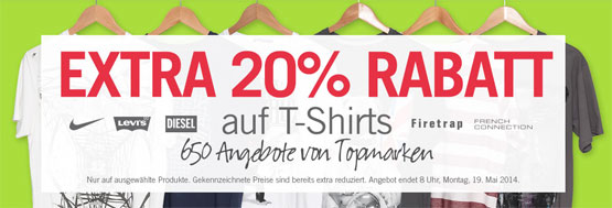 Rabatt T-Shirts Aktion