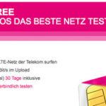 Telekom Mobilfunk Data Comfort Free (LTE) – 2 x 1 Monat lang 5GB – komplett kostenlos und ohne Folgekosten