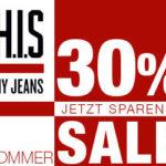 H.I.S-Jeans: Summer Sale mit bis zu 50% Rabatt + 10% Extra-Rabatt dank Gutschein