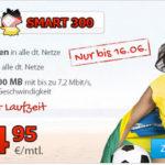 DeutschlandSIM Smart300 (100 Min., 100 SMS, 300 MB) für 4,95€/Monat ohne Laufzeit