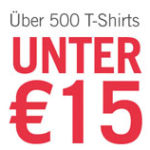 Über 500 T-Shirts für unter 15€