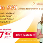 250 Min. + 250 SMS + 500MB für nur 7,95€ monatlich – monatlich kündbar