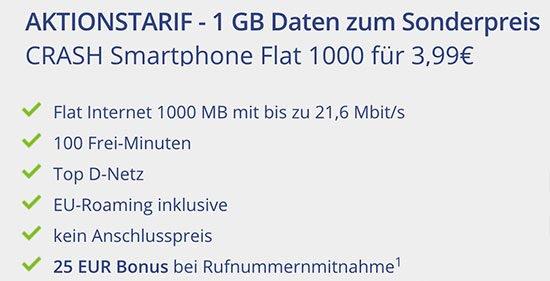 Crash Smartphone Hnadyvetrag Deal Angebot sparen