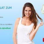 DeutschlandSim O2 FLAT L1000 Allnet-, SMS- und Internet-Flat 1 GB mit 14,4 MBit/s nur 14,95€ mtl.