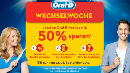oral-b wechselwochen angebot günstig schnäppchen elektrische zahnbürste