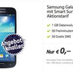 Samsung Galaxy S4 mini mit Vodafone Smart-Surf: 1 GB Internet, 50 Minuten und 50 SMS für 9,99€ pro Monat