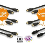 3er Pack Philips High Speed HDMI 2.0 3D 4K Kabel oder 2 x HDMI + 1 optisches Kabel für 18,90€ inkl. Versand