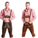 Herren Trachten Lederhose – Watzmann – Kniebundlederhose mit Trägern für 49,99€ inkl. Versand