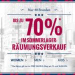 Tom Tailor: Sommer-Räumungsverkauf mit bis zu 70% Rabatt