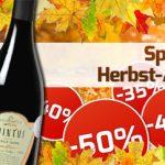 Weinvorteil: Herbst-Ausverkauf mit bis zu 50% Rabatt + Gutscheine