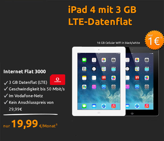ipad 4 crash-tarife vodafone angebot
