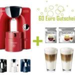 Bosch Tassimo Charmy + 2 WMF Gläser + 2 x Jacobs Kaffee + 60€ Gutschein für nur 79,99€ inkl. Versand (statt 138,18€)