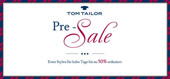 Tom Tailor Pre Sale angebot kleidung günstig