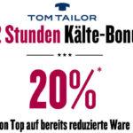 Tom Tailor: Sale mit 50% Rabatt + 20% Extra-Rabatt