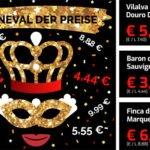 Weinvorteil: Preiskarneval – Weine ab 3,33€