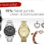 Galeria Kaufhof: 15% Rabatt auf Schmuck und Uhren + 10% Extra-Rabatt + garantierte Lieferung bis Weihnachten