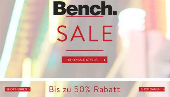 bench sale angebot günstig winter