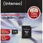 Intenso 64GB Micro SDHC Speicherkarte Class 10 Karte inkl. SDHC Card Adapter für 17,99€ inkl. Versand (statt 32,48€)