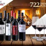 Wein-Probierpaket 8 Flaschen mit bis zu 91 Robert Parker Punkten + 4 Rotwein-Gläsern für 59,99€ inkl. Versand (statt 141,76€)