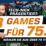 3 Games für 75€ bei Saturn – über 75 Spiele zur Wahl