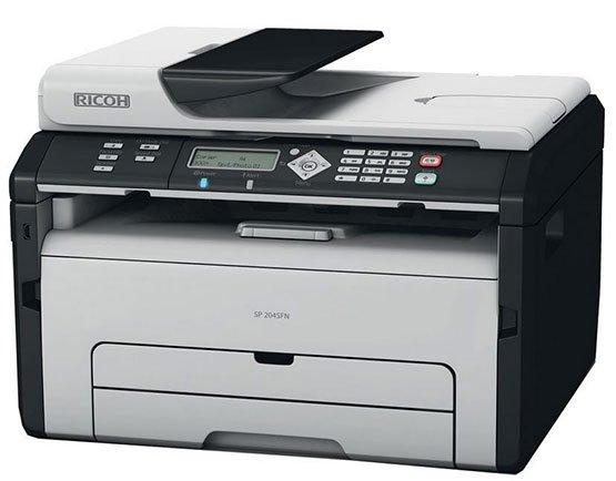 ricoh sp 204sfnw wlan mono laserdrucker scanner. Black Bedroom Furniture Sets. Home Design Ideas