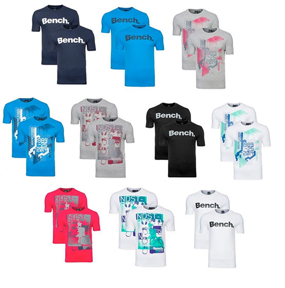 bench. t-shirts günstig doppelpack angebot sale